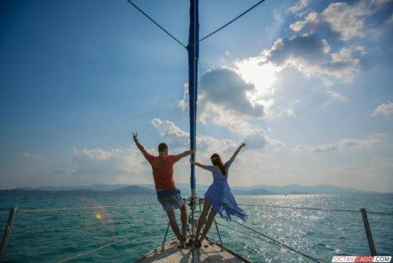 Фотосессии на яхте Пхукет, Краби. Таиланд.
